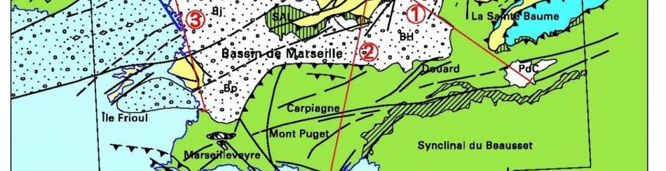 Extrait du schéma structural de la carte Aubagne-Marseille