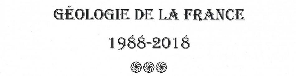 Géologie de la France, sommaire 1988-2018